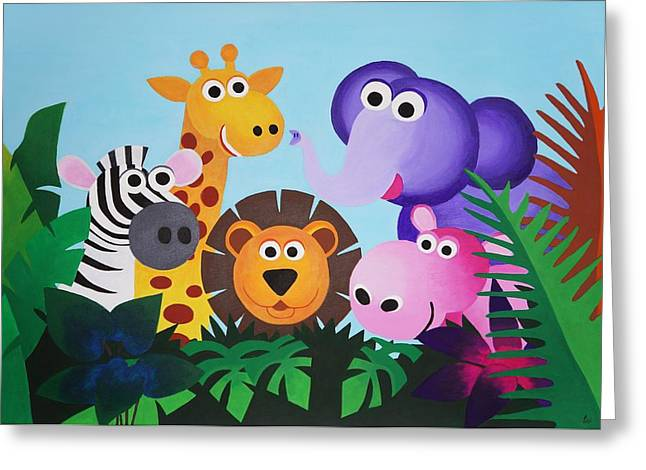 Jungle Greeting Card by Bav Patel