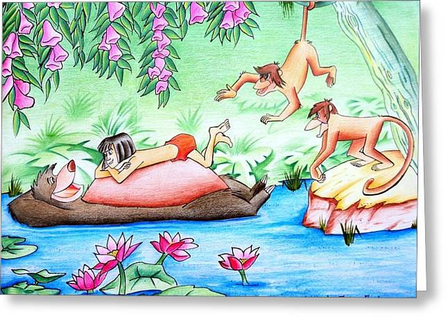 Jungle Book Greeting Card by Tanmay Singh