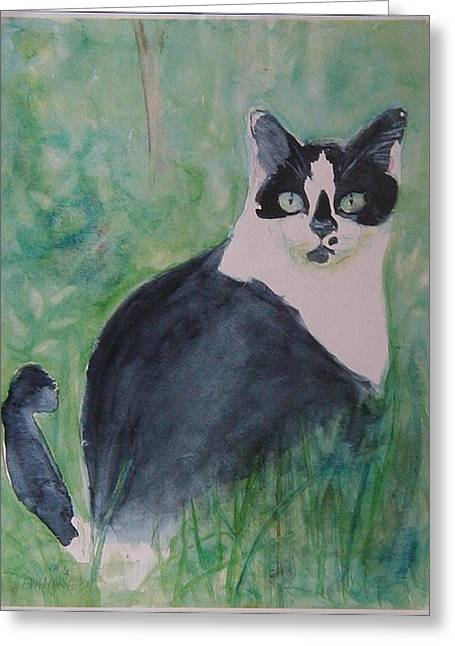 Jungle Cat Greeting Card by Eva Marie Tanner-Klaas