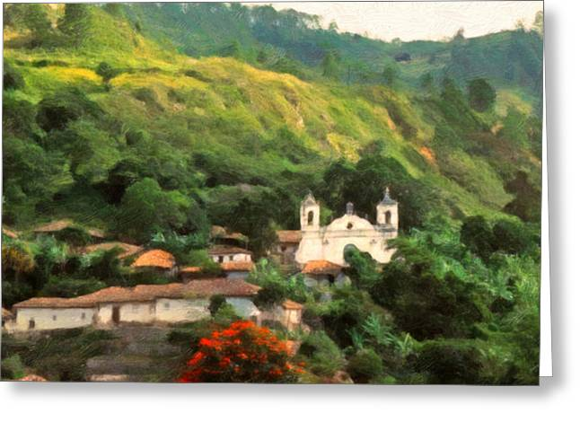 Jungle Church Honduras Greeting Card by Spyder Webb
