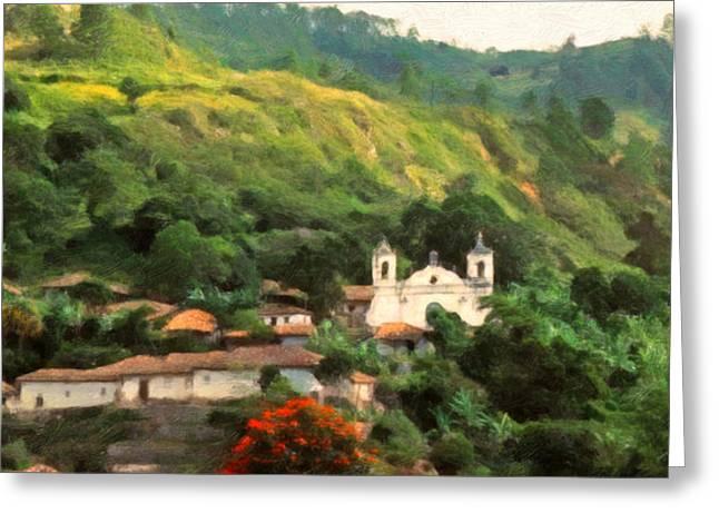 Jungle Church Honduras Greeting Card