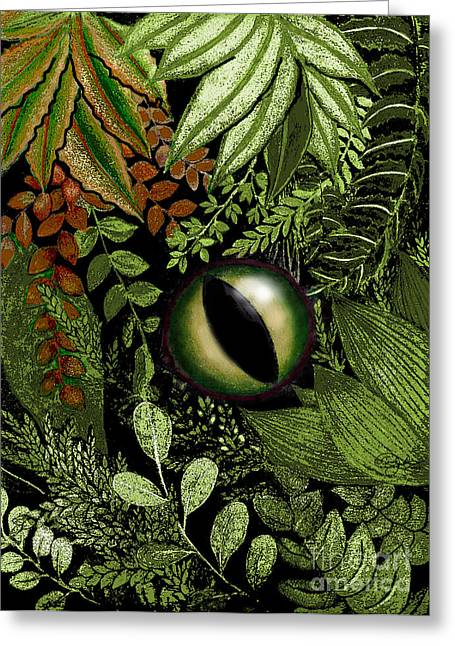 Jungle Eye Greeting Card
