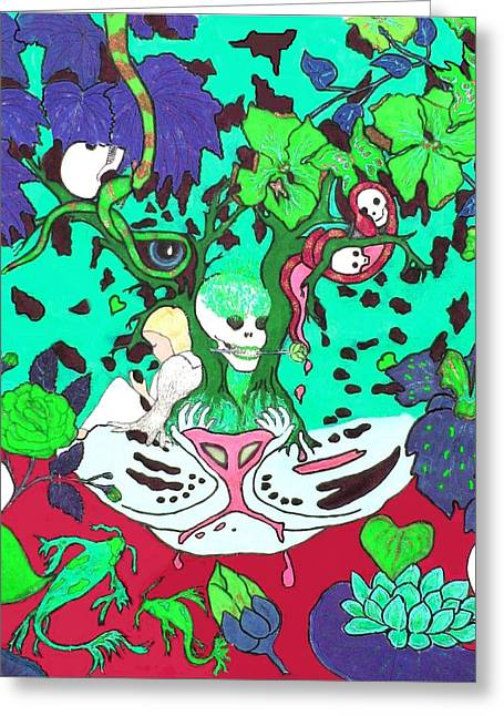 Greeting Card featuring the digital art Jungle Fever 4 by Stephanie Grant