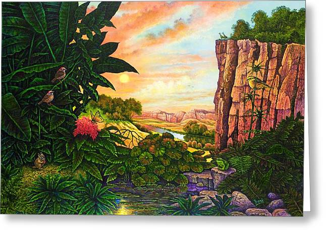 Jungle Harmony I Greeting Card