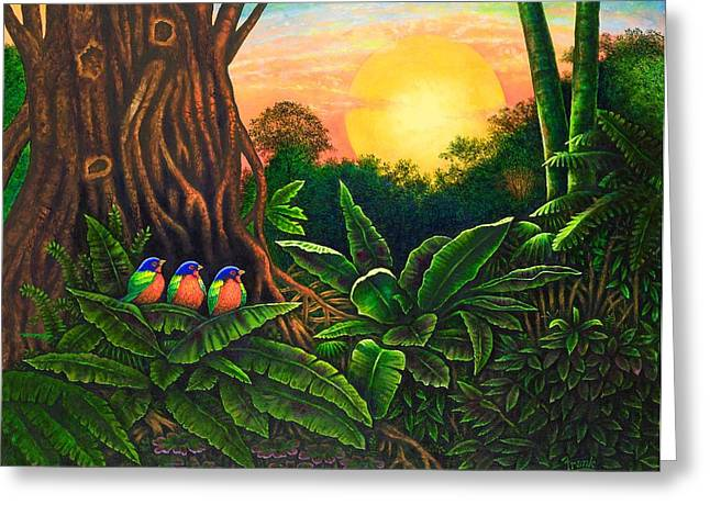 Jungle Harmony IIi Greeting Card by Michael Frank