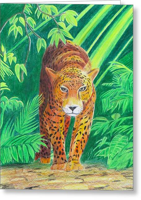Jungle Leopard Greeting Card