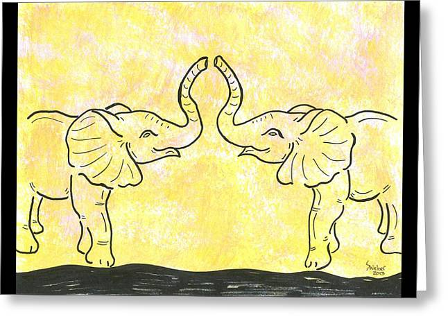 Jungle Love Greeting Card by Susie WEBER