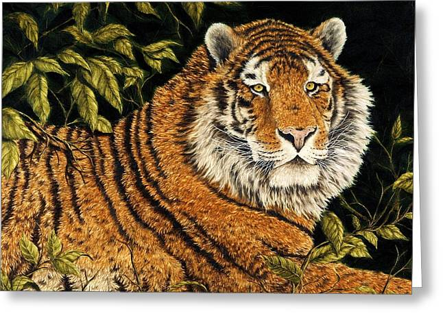 Jungle Monarch Greeting Card by Rick Bainbridge