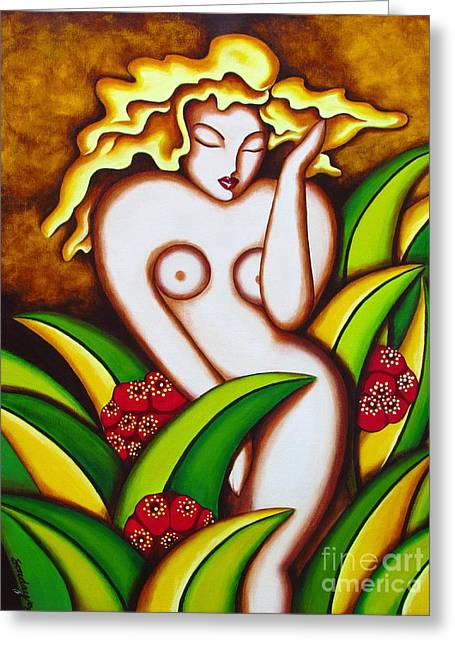 Jungle Nude Greeting Card by Joseph Sonday