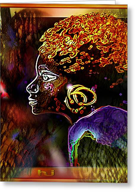 African   Princess Greeting Card by Hartmut Jager