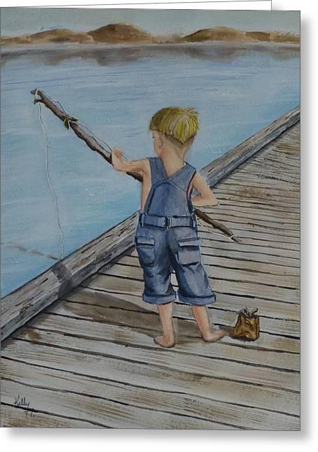 Juniors Amazing Fishing Pole Greeting Card