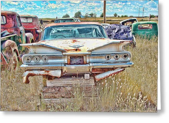 Junkyard Series 1960's Chevrolet Impala Greeting Card