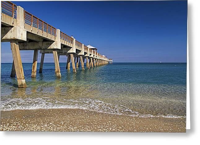 Juno Pier Greeting Card by Island Photos