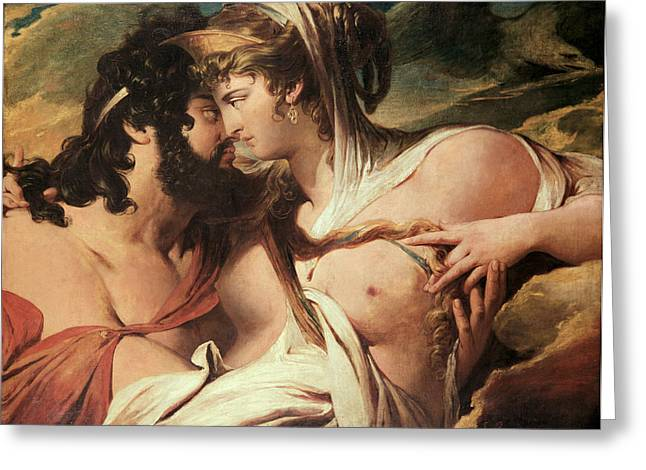 Jupiter And Juno On Mount Ida Greeting Card by James Barry