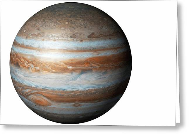 Jupiter From Space Greeting Card by Mikkel Juul Jensen
