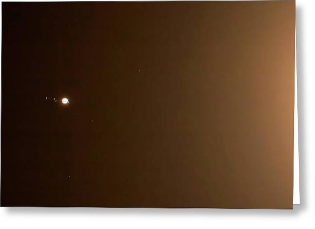 Jupiter In The Glow Of The Moon Greeting Card by Luis Argerich