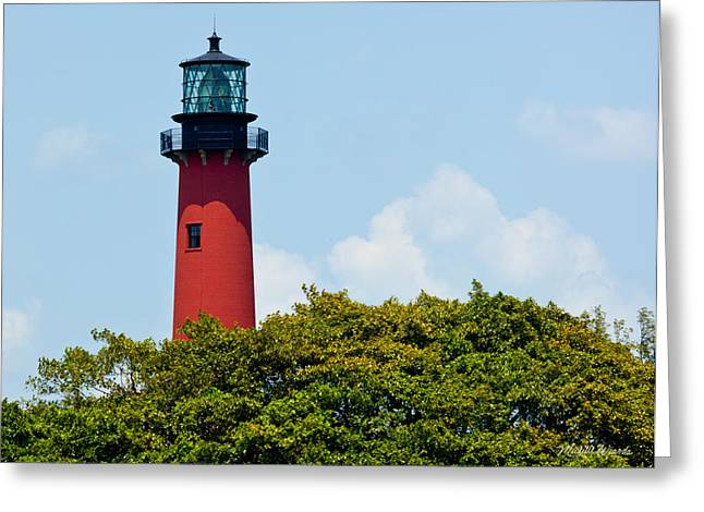 Jupiter Inlet Lighthouse Greeting Card by Michelle Wiarda