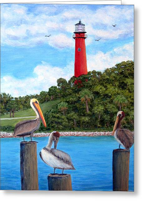 Jupiter Inlet Pelicans Greeting Card