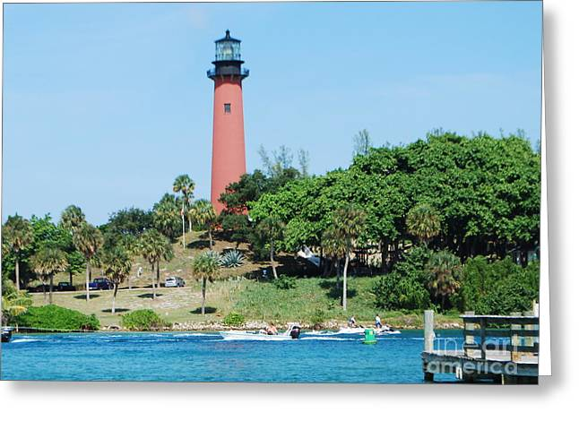 Jupiter Inlet Greeting Card by William Wyckoff