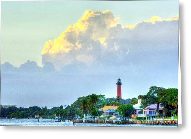 Jupiter Lighthouse Artsy Greeting Card