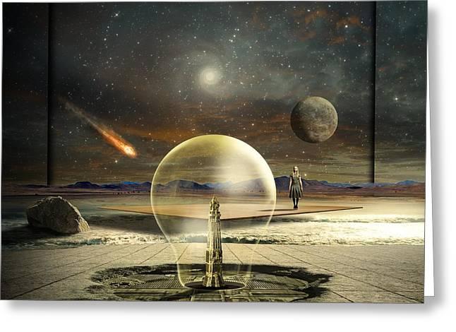 Jupiter Session Greeting Card by Franziskus Pfleghart