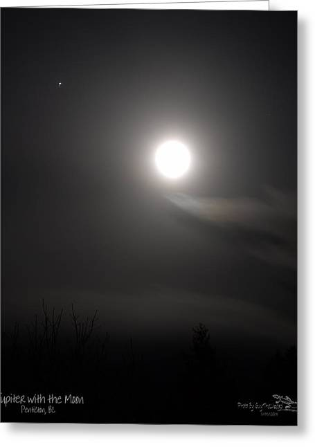 Jupiter With The Moon Greeting Card by Guy Hoffman