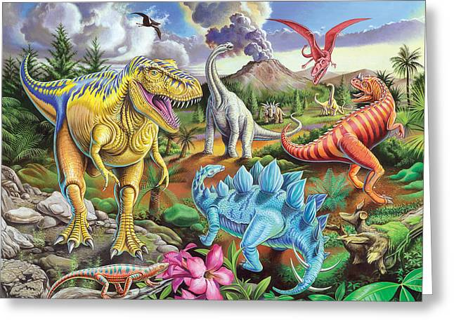 Jurassic Jubilee Greeting Card by Mark Gregory