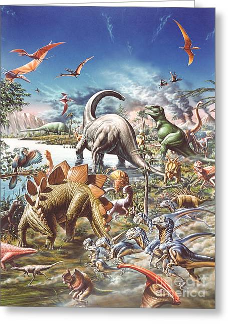 Jurassic Kingdom Greeting Card by Adrian Chesterman