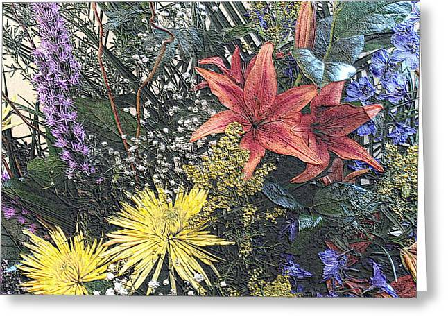 Just A Boquet Greeting Card by Scott Kingery