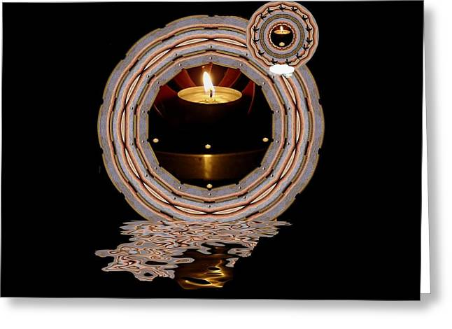 Just A Candle In The Wind Greeting Card by Pepita Selles