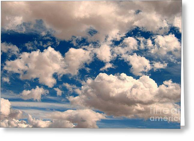 Greeting Card featuring the photograph Just A Face In The Clouds by Janice Westerberg