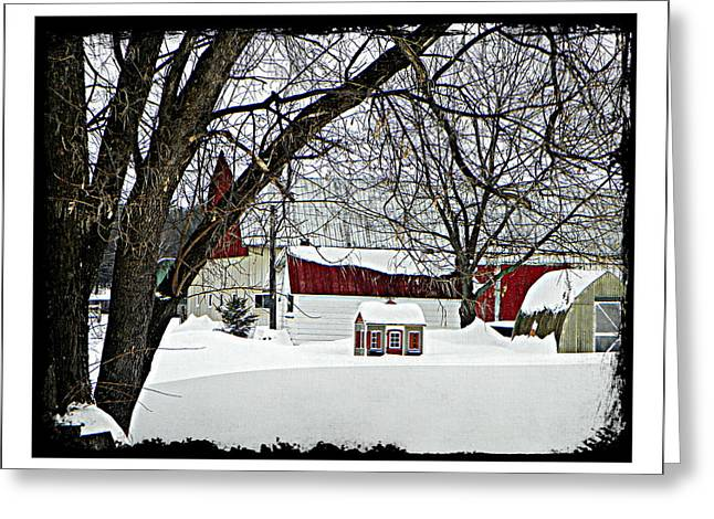 Just A Farm Greeting Card by Dianne  Lacourciere
