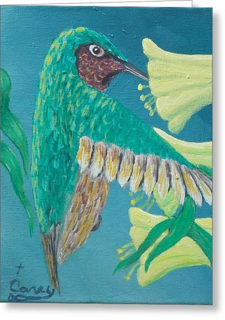 Just A Hummingbird Greeting Card