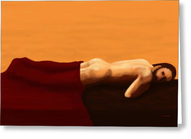 Just A Little Nap Greeting Card by Tim Stringer