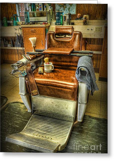 Just A Little Off The Top II - Barber Shop Greeting Card by Lee Dos Santos