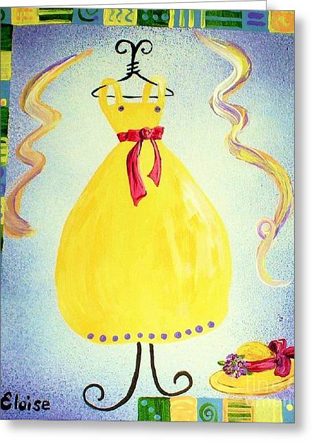 Just A Simple Hat And Dress Greeting Card by Eloise Schneider