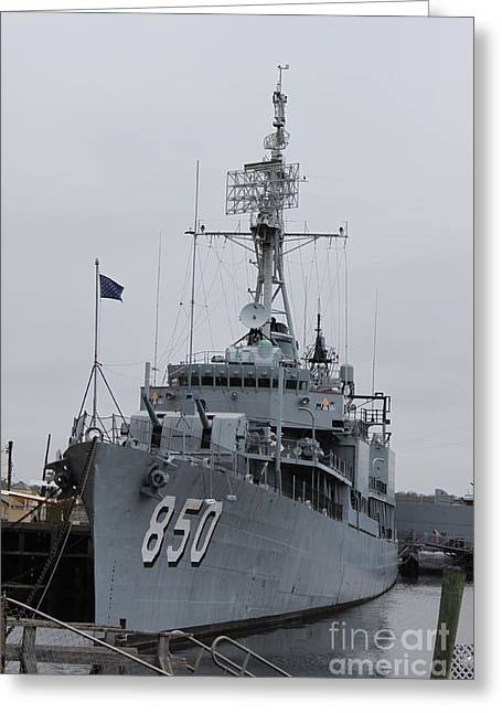 Just Another Battleship Photo Of The Uss Joseph P Kennedy Jr  Greeting Card by Jennifer E Doll