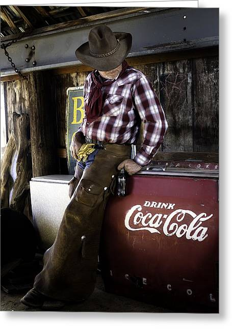 Greeting Card featuring the photograph Just Another Coca-cola Cowboy 2 by James Sage