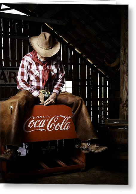 Just Another Coca-cola Cowboy 3 Greeting Card