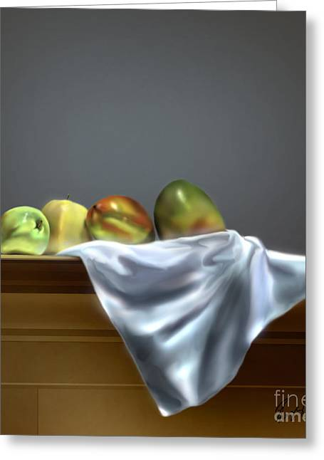 Just Apples And Mangos  Greeting Card