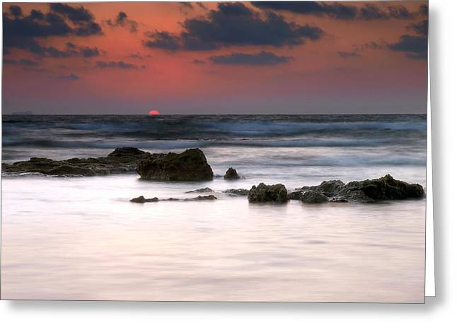 Greeting Card featuring the photograph Just Before by Meir Ezrachi