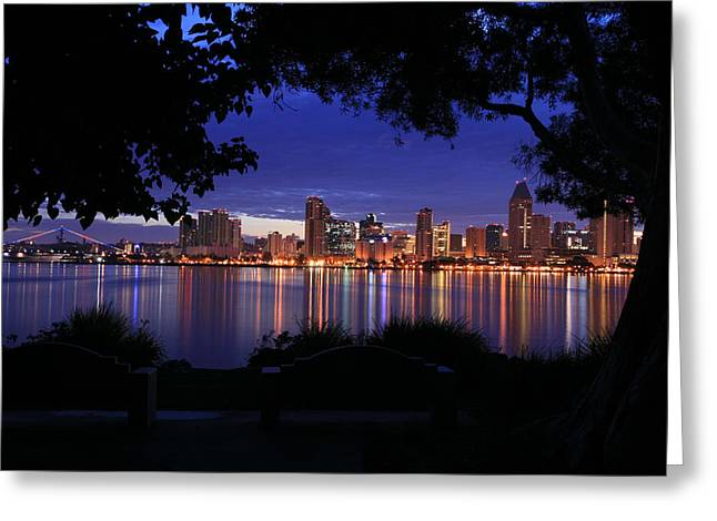 Just Before Sunrise San Diego Greeting Card
