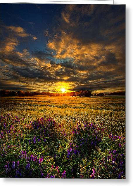 Just Believe Greeting Card by Phil Koch