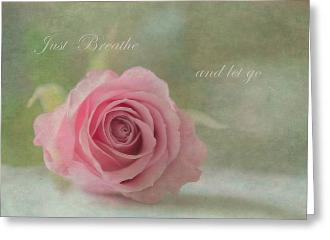 Just Breathe Greeting Card by Angie Vogel