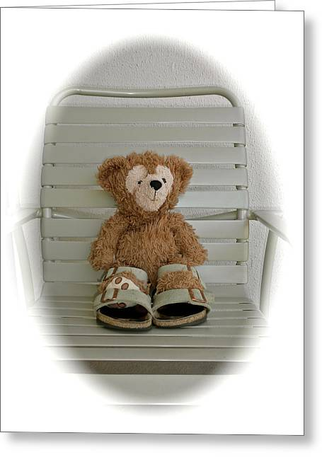 Just Chilling Bear Greeting Card