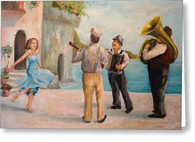 Just Dance Greeting Card by Alan Lakin