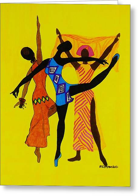 Just Dance Greeting Card by Celeste Manning