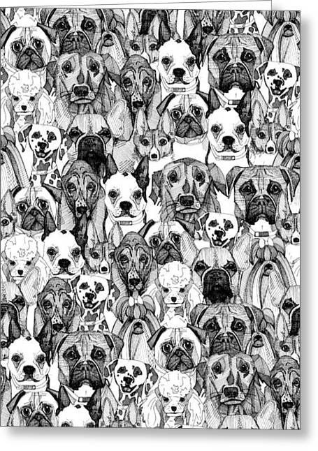 Just Dogs Greeting Card by Sharon Turner