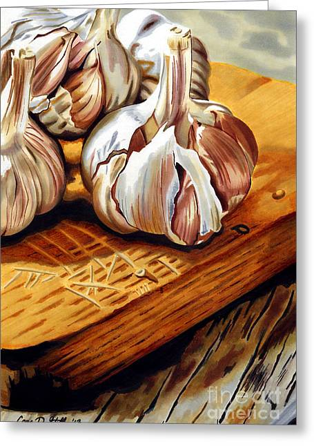 Just Garlic Greeting Card