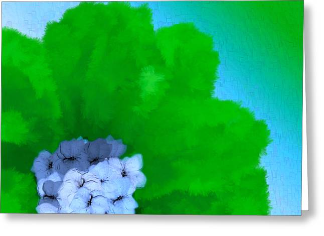 Just Give Me A Reason Blue Green Blue Greeting Card by Holley Jacobs